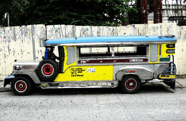 Photograph - Yellow Jeepney by Christopher Shellhammer