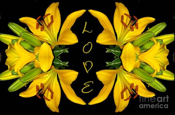 Photograph - Yellow Lilies With Love by Rose Santuci-Sofranko