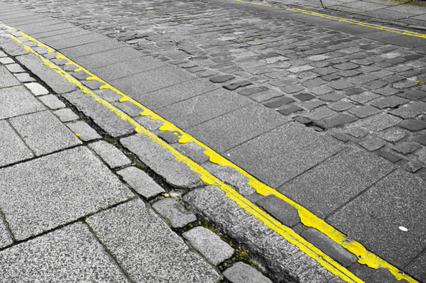 Yellow Brick Road Wall Art - Photograph - Yellow Lined by Tom Gowanlock