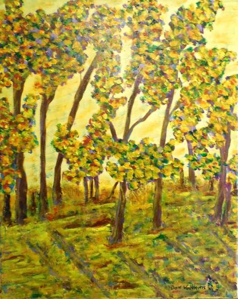 Don Williams Painting - Yellow Morning Forest- Abstract by Don Williams