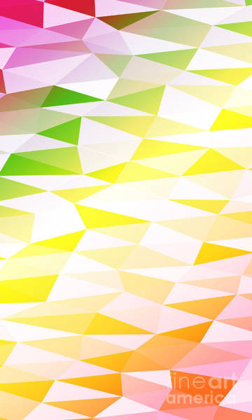 Triangle Digital Art - Yellow, Orange, Pink, Multicolor by Mademoiselle De Erotic
