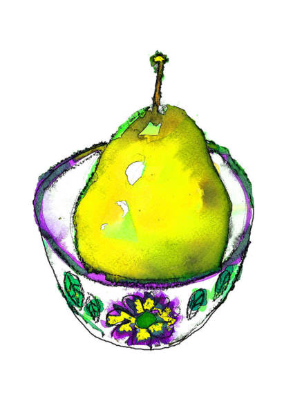 Painting - Yellow Pear by Tracy-Ann Marrison