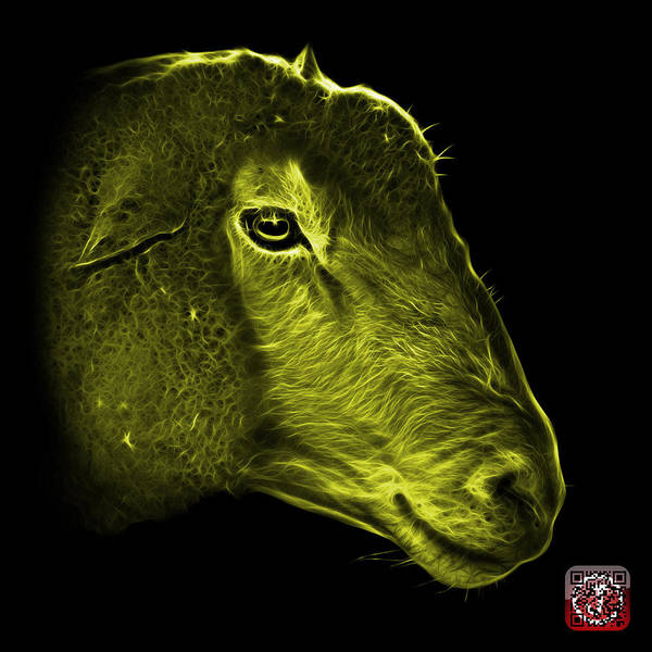 Digital Art - Yellow Polled Dorset Sheep - 1643 F by James Ahn
