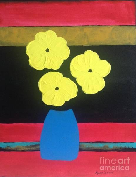 Painting - Yellow Poppies by Monika Shepherdson
