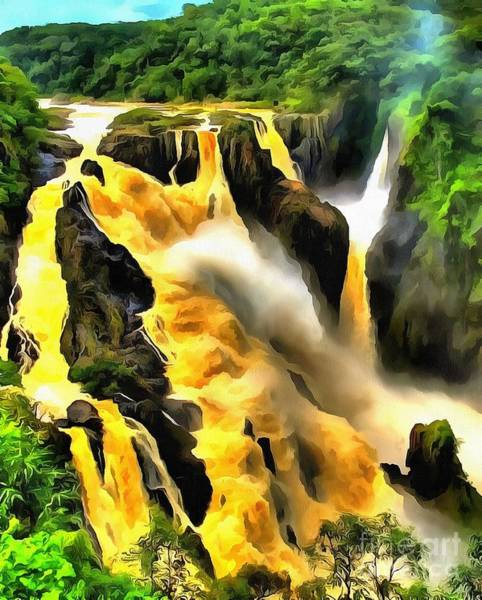 Yellow River Art Print
