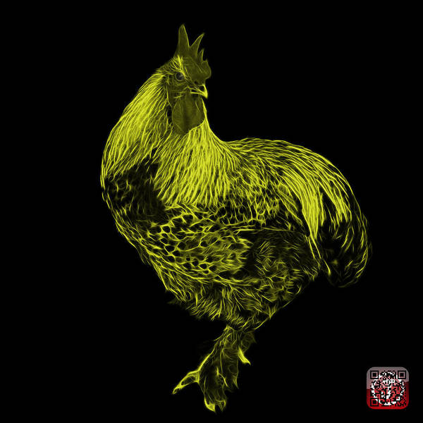 Painting - Yellow Rooster 3166 F by James Ahn