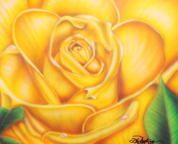 Painting - Yellow Rose Of Texas by Darren Robinson