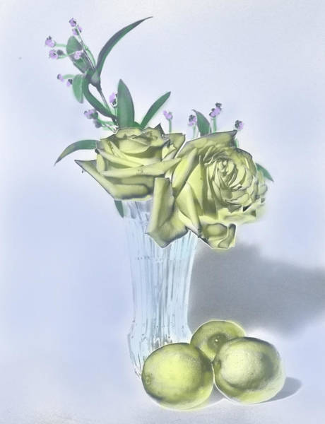 Digital Art - Yellow Rose Painting by Grace Dillon