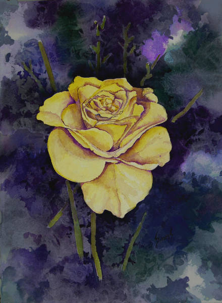 Painting - Yellow Rose by Sam Sidders