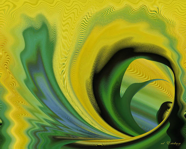 Digital Art - Yellow by rd Erickson