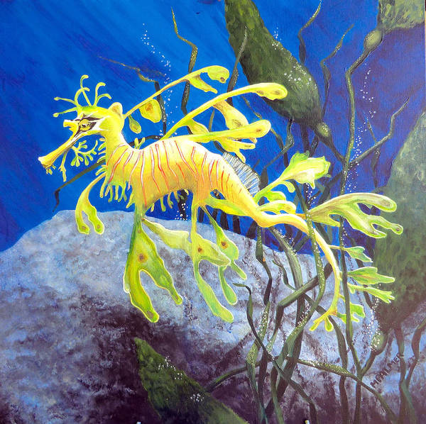 Painting - Yellow Seadragon by Mary Palmer