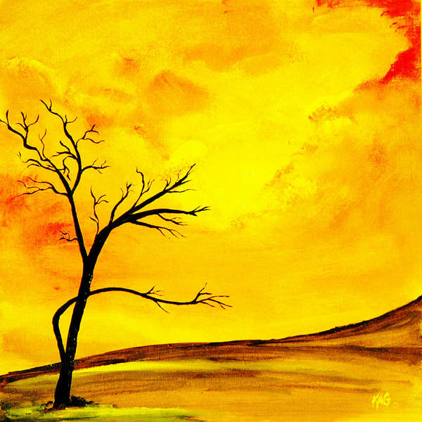 Kag Wall Art - Painting - Yellow Sky by Gina Cooper