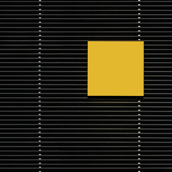 Square Wall Art - Photograph - Yellow Square by Luc Vangindertael (lagrange)