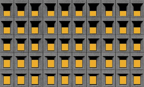 Wall Art - Photograph - Yellow Squares by Inge Schuster