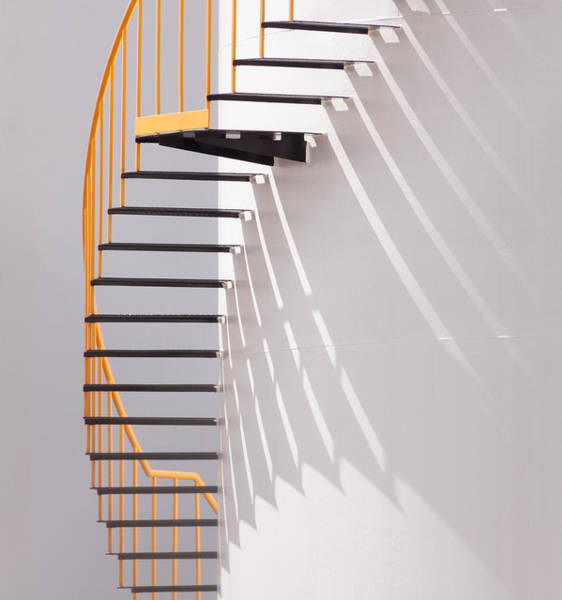 Wall Art - Photograph - Yellow Staircase by Jacqueline Hammer