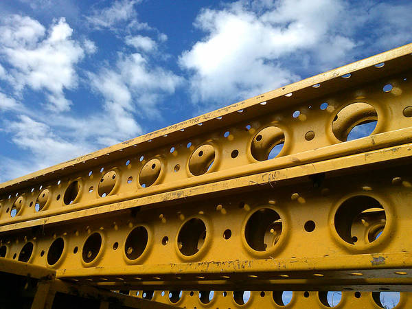 Photograph - Yellow Steel Three by Steve Sperry