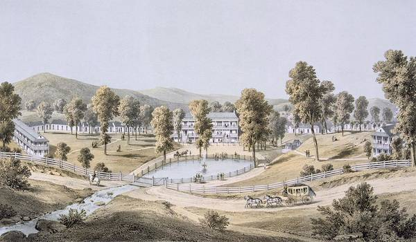 Wetland Drawing - Yellow Sulphur Springs, Montgomery by Edward Beyer