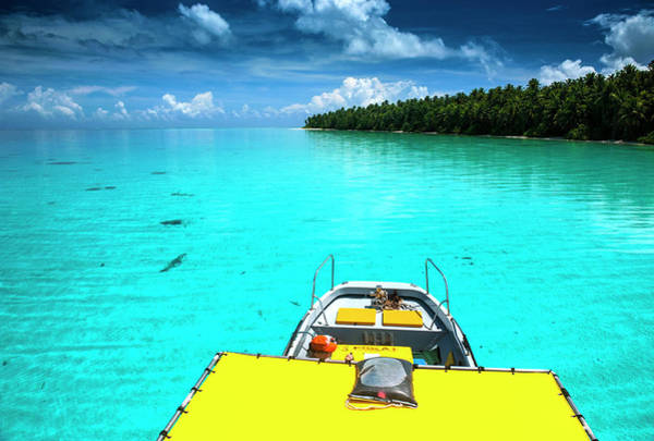 Micronesia Photograph - Yellow Sundeck Of A Boat In The Ant by Michael Runkel
