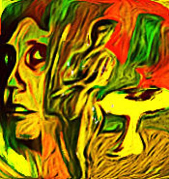 Wall Art - Mixed Media - Yellow Table 5 by Noredin Morgan