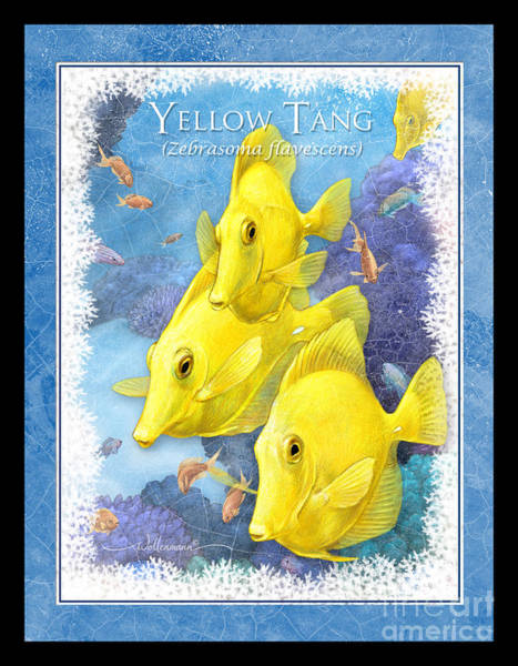 Digital Art - Yellow Tang by Randy Wollenmann