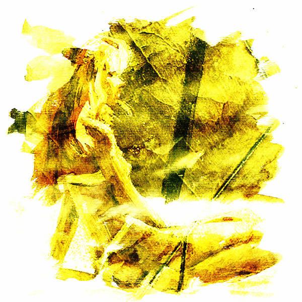 Blondie Digital Art - Yellow Teardrop Woman by Andrea Barbieri