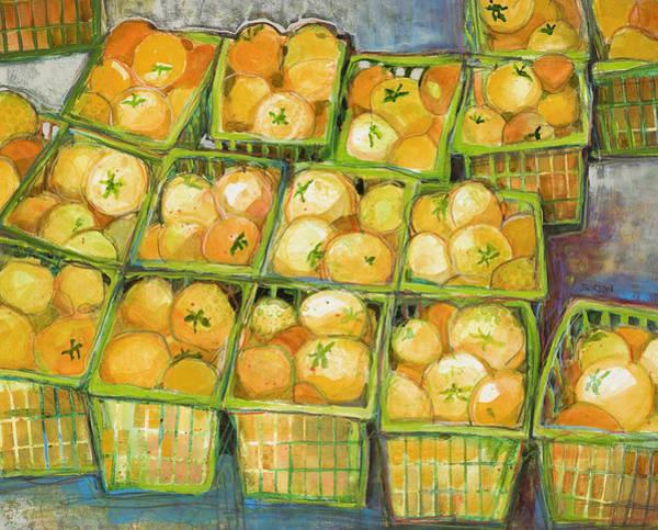 Wall Art - Painting - Yellow Tomato Baskets by Jen Norton