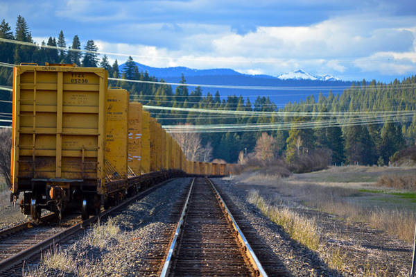 Photograph - Yellow Train To The Mountains by Chris Alberding