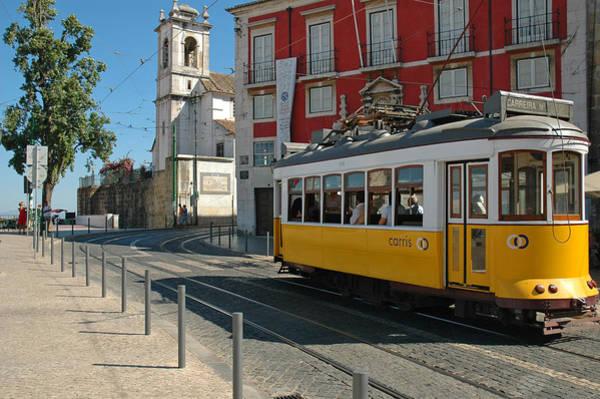 Carris Photograph - Yellow Tram In Alfama Lisbon by Rui Santos