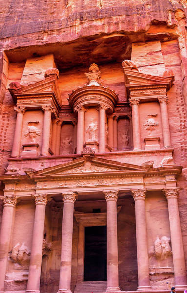 Wall Art - Photograph - Yellow Treasury In Morning, Petra by William Perry