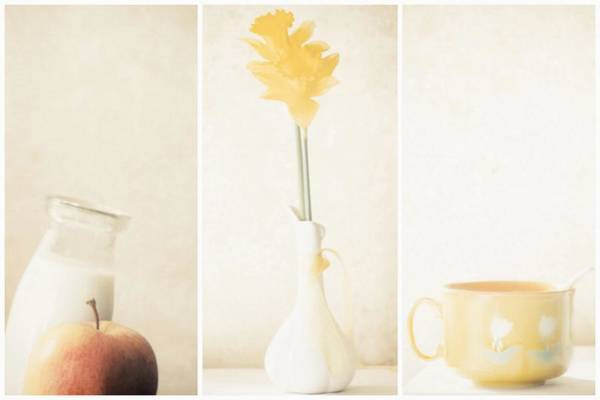 Soft Color Photograph - Yellow (triptych) by Delphine Devos