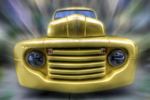 Pick Up Truck Digital Art - Yellow Peril by Nathan Wright