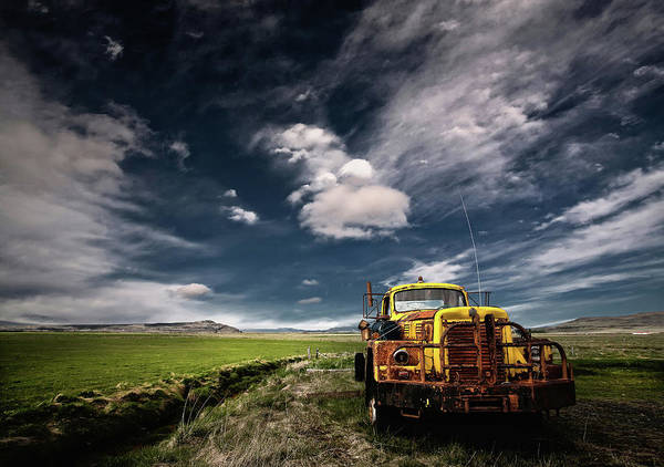 Forgotten Photograph - Yellow Truck by ?orsteinn H. Ingibergsson