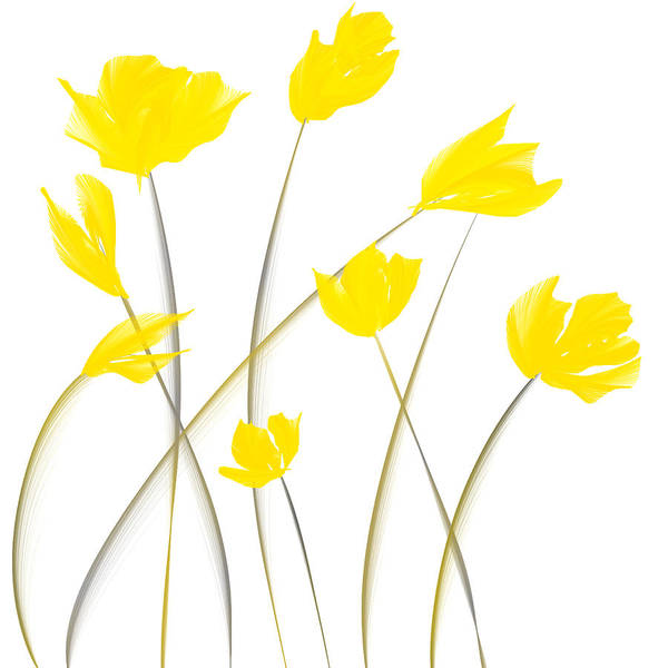 Painting - Yellow Tulips Modern Art by Lourry Legarde