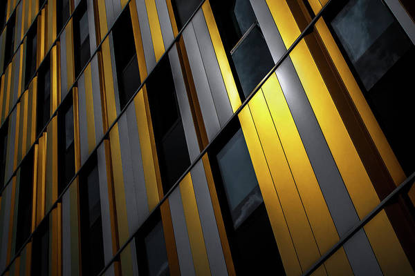 Facade Photograph - Yellow Wall by Gilbert Claes