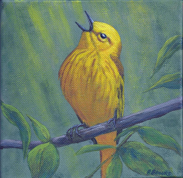 Painting - Yellow Warbler by Fran Brooks