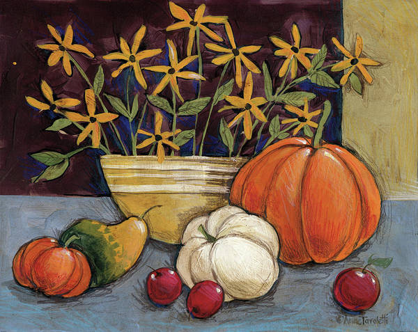 Thanksgiving Wall Art - Painting - Yellow Ware by Anne Tavoletti