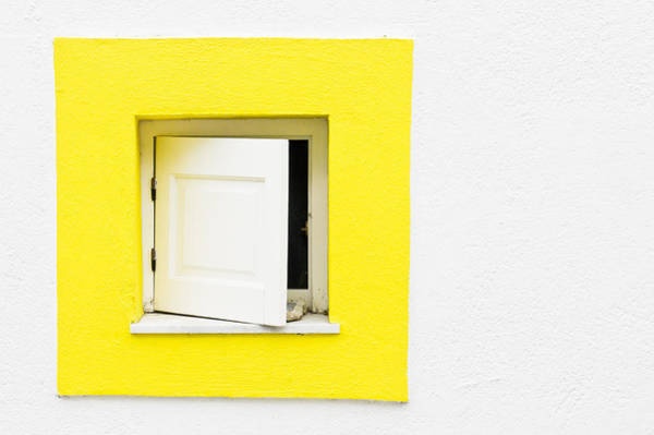 Window Photograph - Yellow Window by Tom Gowanlock