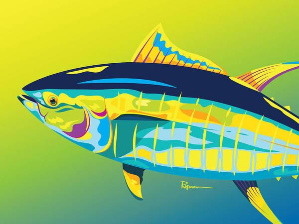 Wall Art - Digital Art - Yellowfin Colors by Kevin Putman