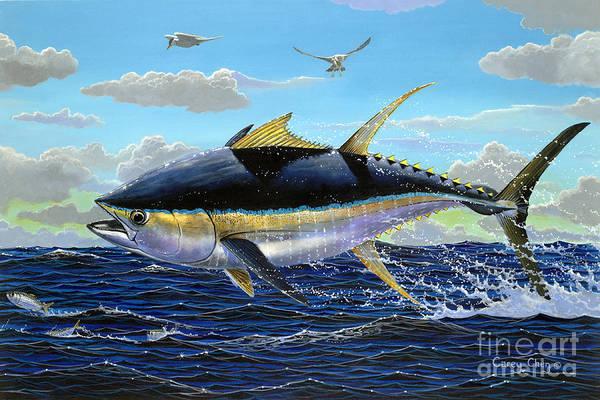 Big Island Painting - Yellowfin Crash Off0081 by Carey Chen