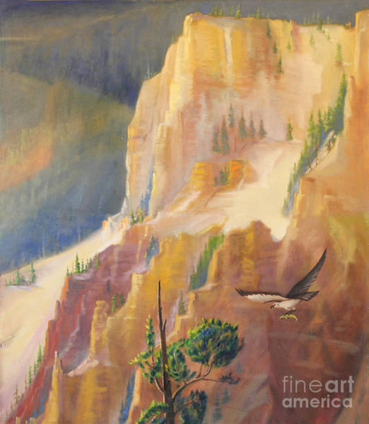 Painting - Yellowstone Canyon - Tolpo Point Mural Panel 4 by Art By Tolpo Collection
