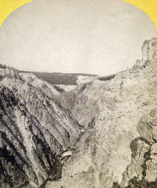 Painting - Yellowstone Canyon, 1871 by Granger