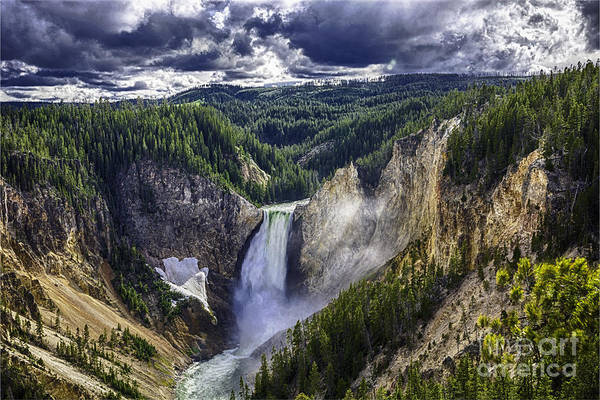 Photograph - Yellowstone Canyon Lower Falls by Bitter Buffalo Photography