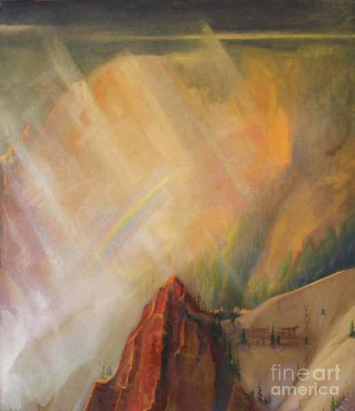 Painting - Yellowstone Canyon -tolpo Point Mural Panel 3 by Art By Tolpo Collection