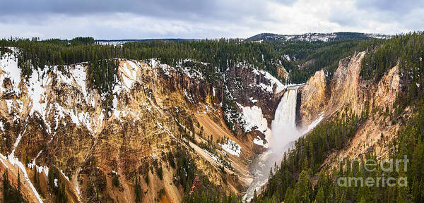 Yellowstone Canyon Photograph - Yellowstone Falls Panorama by Jamie Pham