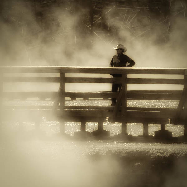 Photograph - Yellowstone Hot Spring Sepia by Ron White