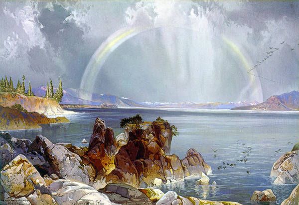 1875 Digital Art - Yellowstone Lake 1875 by Unknown