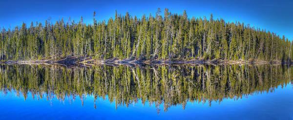 Wall Art - Photograph - Yellowstone Lake Reflection by Twenty Two North Photography