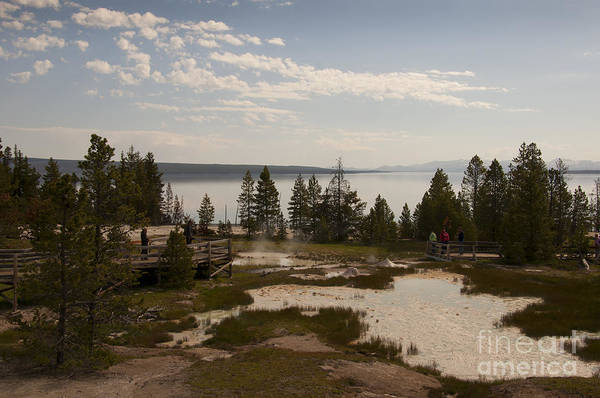 Photograph - Yellowstone Lake With Geothermic Pools by Brenda Kean