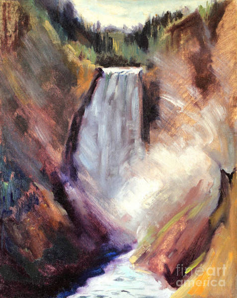 Painting - Yellowstone Lower Falls - 1939 by Art By Tolpo Collection