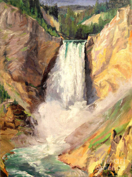 Painting - Yellowstone Lower Falls   by Art By Tolpo Collection